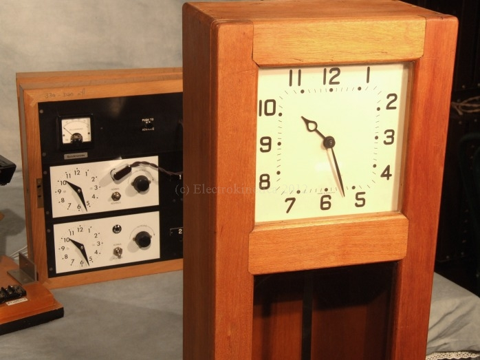 Master clock and relay panel