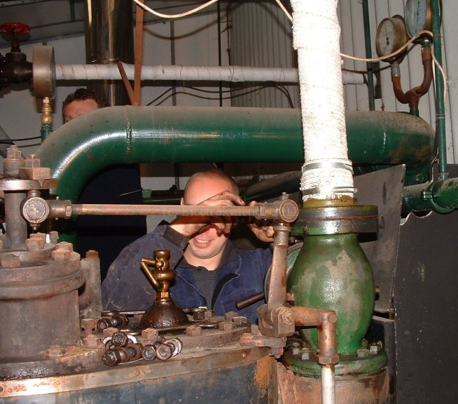 Steve detaching pipework
