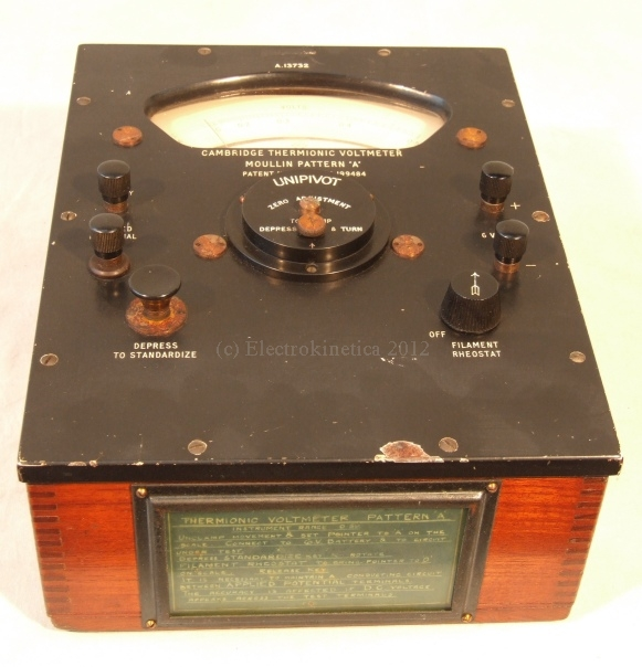 Cambridge valve voltmeter
